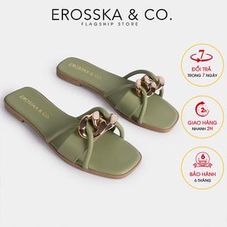 Dép quai xích thời trang Erosska 2021 phối dây mảnh màu xanh - DE040 - DE040GE thumbnail