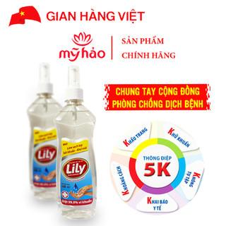 Dung Dịch Cồn Rửa Tay Sát Khuẩn LiLy (Chai 500ml) - DDRT_500ML thumbnail