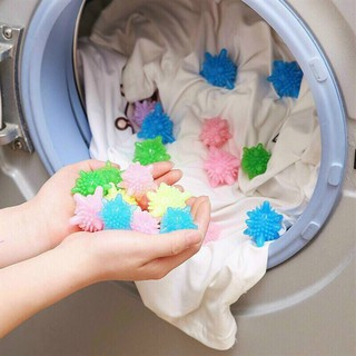XẢ KHO - Combo 10 quả Bóng giặt quần áo, banh giặt đồ tạo lực ma sát cực tốt khi máy giặt chuyển động, không làm phai màu quần áo - SP000128 thumbnail