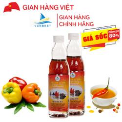 Đặc Sản Quảng Ninh-ComBo 2 chai 50ml Nước Mắm Sá Sùng Vân Đồn - Vanbest Loại 36N