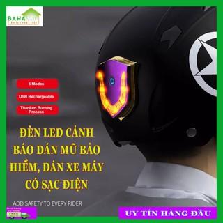 ĐÈN LED CẢNH BÁO DÁN MŨ BẢO HIỂM, DÁN XE MÁY CÓ SẠC ĐIỆN BAHAMAR cảnh báo hiệu quả và giúp lái xe an toàn hơn với công nghệ đốt Titan làm cho sản phẩm độc đáo hơn. - 0347 thumbnail