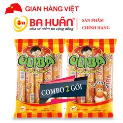Combo 2 gói Xúc Xích Tiệt Trùng Oliba Gà 175g - Ba Huân (5 cây x 35g)