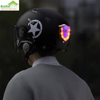 ĐÈN LED CẢNH BÁO DÁN MŨ BẢO HIỂM, DÁN XE MÁY CÓ SẠC ĐIỆN BAHAMAR cảnh báo hiệu quả và giúp lái xe an toàn hơn với công nghệ đốt Titan làm cho sản phẩm độc đáo hơn. - 0347 4
