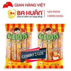 Combo 2 gói Xúc Xích Tiệt Trùng Oliba Gà 100g - Ba Huân (5 cây x 20g)