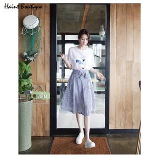 Set bộ Haint Boutique áo và chân váy kẻ sọc trẻ trung qa20 - qa20. thumbnail