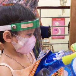 Kính che mặt trong suốt chống giọt bắn TRẺ EM chống khói bụi chống sương mù phòng dịch bệnh bảo vệ sức khỏe-nhựa meka cao cấp,trong suốt Không chóa lòe mắt
