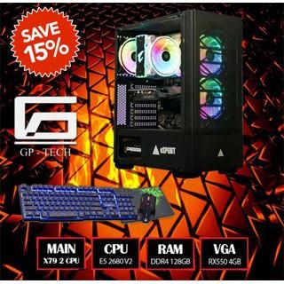 Máy X79 + E5 2680 V2 2 CPU + 128GB + RX550 - Làm đồ họa + Chiến full game - Máy X79 + E5 2680 V2 2 CPU thumbnail