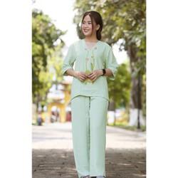 Set áo và quần dài vải đũi lụa 40-70 kg cao cấp