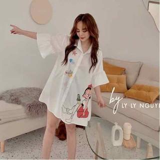 Đầm sơ mi tay loe cô gái - Mi596 thumbnail