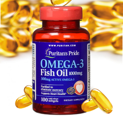 Dầu cá Omega 3 hỗ trợ tim mạch, tăng cường thị lực Omega-3 Fish Oil 1000 mg Puritan's Pride