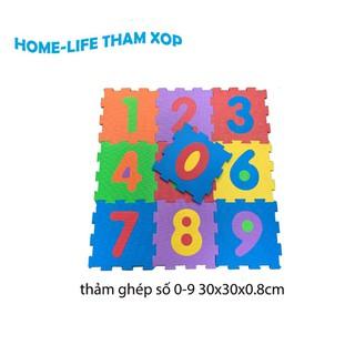 Thảm Xốp Ghép Hình Số Đếm Cho Bé (số 0-9) kích thước (30x30x0.8cm) (giá tính theo tấm) - 1474_44992127 thumbnail