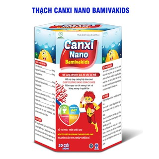 Thạch Canxi Nano Bamivakids- Bổ Sung Vitamin D3,K2 Hỗ Trợ Tăng Chiều Cao Ở Trẻ, Giảm Loãng Xương Ở Người Già, Giảm Nguy Cơ Còi Xương,- Nguyên Liệu Fos Nhập Khẩu Bỉ - - Thạch Canxi Nano Bamivakids thumbnail