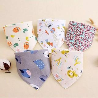 Yếm tam giác cotton organic 100%, có cài cúc cho bé - yem46 thumbnail