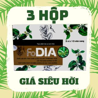 [ 3 hộp giá hời ] Dây thìa canh - Viên uống hỗ trợ ổn định đường huyết - FoDIA - Hộp 30 viên. - CB3DIA thumbnail