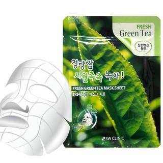 BỘ 10 MIẾNG ĐẮP MẶT NẠ HÀN QUỐC 3W CLINIC FRESH GREEN TEA MASK SHEET 23G TRÀ XANH DƯỠNG TRẮNG, GIẢM MỤN - 3W_DMN Trà thumbnail