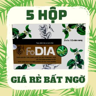 [ 5 hộp giá rẻ ] Dây thìa canh - Viên uống hỗ trợ ổn định đường huyết - FoDIA - Hộp 30 viên. - CB5DIA thumbnail