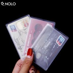 Combo Set 3 Túi Bọc CCCD Thẻ ATM Thẻ Sinh Viên Mặt Trên Trong Suốt Mặt Dưới Cán Mờ Chất Liệu Nhựa PVC Dẻo Chống Trầy Xước