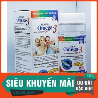 Viên dầu cá Alaska O.m.e.g.a 3 with Coenzym Q10 tốt cho mắt, khỏe tim mạch, giảm mỡ máu - Chai 100 viên - Alaska O.m.e.g.a 3 - mẫu gia đình - OM2 thumbnail