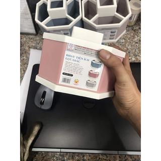 Khay tiện ích lục giác - kệ để đồ 5 ngăn để bàn Việt Nhật (đựng bút, đựng thước, điều khiển tivi) - SP000306 thumbnail