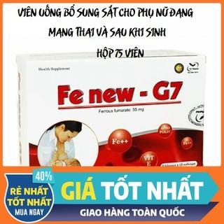 COMBO 2 HỘP Fe New G7 Bổ sung sắt, acid folic, vitamin B12 cho mẹ bầu - SAT01 thumbnail