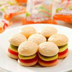 (loại ngon) 1 vĩ 60 gói kẹo dẻo hamburger siêu ngon