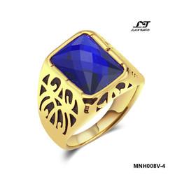 Nhẫn nam điêu khắc mặt đá xanh dương giá tốt ver6 MNH008V-4
