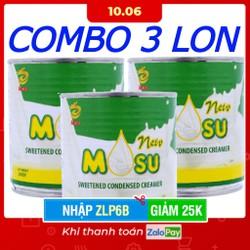 [Nhập ZLP6B - Giảm 25k từ 30k] COMBO 3 LON - SỮA ĐẶC MOSU CÓ ĐƯỜNG - NHẬP KHẨU MALAYSIA - 390 GRAM / 1 LON