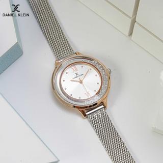 Đồng hồ thời trang nữ máy pin mặt tròn dây kim loại chính hãng Daniel Klein Premium Ladies DK.1.12524 phân phối độc quyền Galle Watch - DK.1.12524 thumbnail