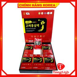 Nước Hồng Sâm 6 Năm Hàn Quốc Jeong Won, Hộp 30 gói - Tăng đề kháng, giảm stress, phòng ung thư, tranglinh