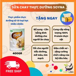 Thực Phẩm Chay - Sữa Thực Vật Chay SoyNa 400g Từ Thiên Nhiên - Bữa Ăn Chay Chỉ 2 Phút - Sữa Cho Người Lớn - Món Chay - Khởi Sự Ăn Chay - Thực Phẩm Chay Giàu Protein - Đồ Chay - Đã Kiểm Định Chất Lượng FDA (Hoa Kỳ) - Chay Thực Dưỡng Diệp Linh