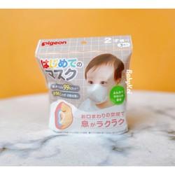 Khẩu trang gấu Pigeon Nhật - sét 3 chi-c cho bé từ 1-6 tuổi - Maneki