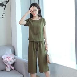 TB5777 - Set áo và quần lửng ống rộng nữ hàng nhập - giá 400k