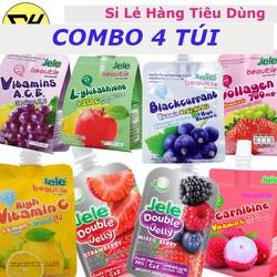 COMBO 4 TÚI - Nước Trái Cây Thạch Jele Beautie - 1 túi /  150gr - Được chọn - 6 Loại Hương Vị Khác Nhau