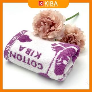 Khăn mặt sợi bông hữu cơ họa tiết gấu bóng bay xinh xắn thương hiệu KIBA, chất cotton 100% thấm hút tốt, màu sắc, hoa văn xinh xắn - KB30 thumbnail