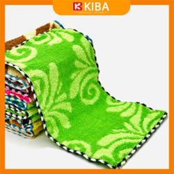 Khăn lau bàn, lau bếp, lau bát, ấm chén KIBA sợi cotton 100% thấm hút vượt trội, tiện lợi, dễ dùng