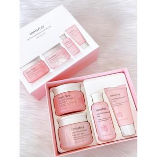 Bộ dưỡng da Innis-free Jeju cherry blossom Cream DUO SET 4 món - V2363 thumbnail