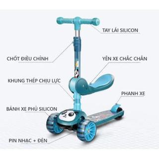 Xe Trượt Scooter cho bé xe scooter trẻ em 3 bánh gấp gọn có đèn phát sáng [ Hàng loại 1] - XTSGT thumbnail