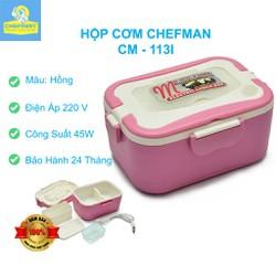 Hộp cơm hâm nóng Chefman Inox - CM 113i + Tặng kèm Túi đựng hộp cơm, Bộ đũa thìa dĩa