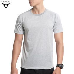 Áo Thun Nam cổ tròn TSIMPLE, Áo Phông Nam basic trơn cotton ngắn tay vải co giãn dày dặn, chuẩn form màu Xám