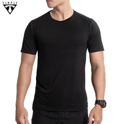 Áo Thun Nam cổ tròn TSIMPLE, Áo Phông Nam basic trơn cotton ngắn tay vải co giãn, dày dặn , chuẩn form màu Đen