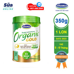 [DATE 2023] Sữa bột Vinamilk Organic Gold 1 - Hộp Thiếc 350g (cho trẻ từ 0 - 6 tháng)