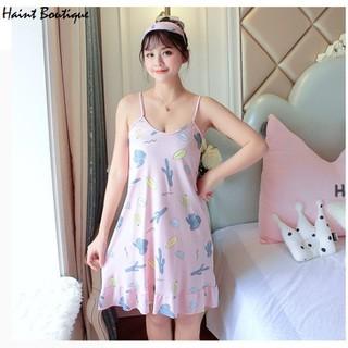 Váy ngủ Haint Boutique 2 dây đuôi cá mát mẻ Vn37 - vn37 thumbnail