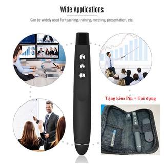 Bút Chỉ Trình Chiếu Slide PowerPoint Laser model PP1000 Nhạy, Độ Bền Cao- Chính hãng Fullbox Tặng kèm Pin + Túi đựng - Bút Chỉ Trình Chiếu Slide PowerPoint Laser mo thumbnail