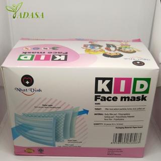 Hộp 55 Cái Khẩu trang Trẻ Em Giấy Kháng Khuẩn Kid Face Mask Tadasa hcm - ktyt treem thumbnail
