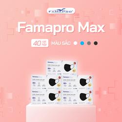 Hàng mới về - Combo 5 hộp khẩu trang y tế cao cấp 4 lớp Famapro Max than hoạt tính kháng khuẩn (40 cái / Hộp)