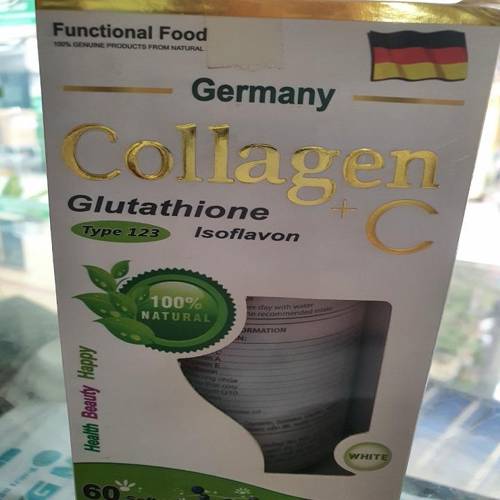 Collagen C trắng da, giảm thâm nám, chống lão hóa hộp 60 viên - Collagen C 60 viên thumbnail