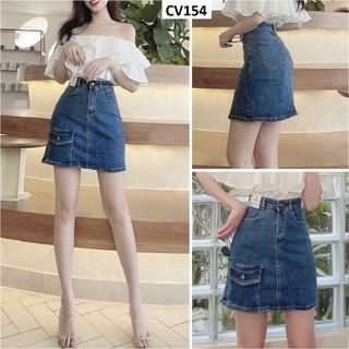 Chân váy dáng A jean co giãn CV154 - CV154 thumbnail