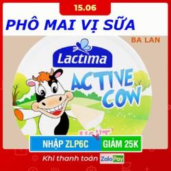 [Nhập ZLP6C - Giảm 25k từ 30k ] Phô mai vị sữa Lactima Active Cow - NHẬP KHẨU: BA LAN - 1 Hộp / 120 Gram - 8 Miếng / 1 Hộp -  [ DATE 2022 ]