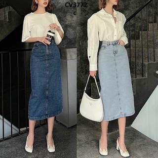 Chân váy jean dài phủ gối CV3772 - 1906_45272407 thumbnail