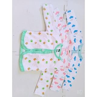 Combo 3 áo lẻ dài tay bé gái sơ sinh nút giữa - combodaigiua thumbnail